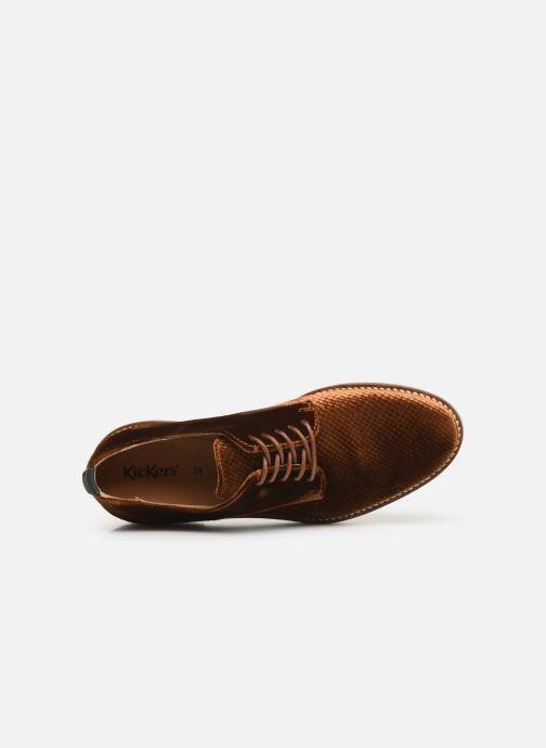 Chaussures à lacets Kickers Oxfork Or et bronze vue gauche