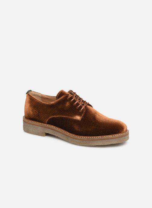 Chaussures à lacets Kickers Oxfork Or et bronze vue détail/paire