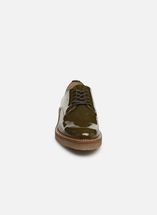 Chaussures à lacets Kickers Oxfork Vert vue portées chaussures