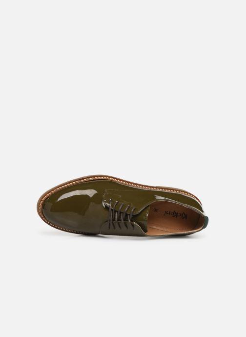 Zapatos con cordones Kickers Oxfork Verde vista lateral izquierda