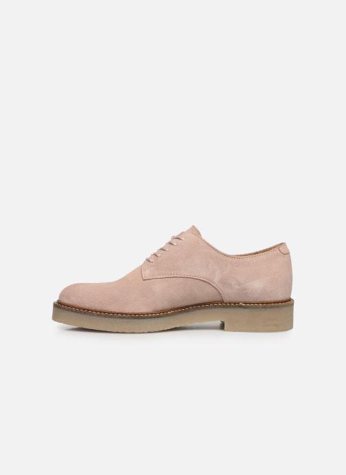 Chaussures à lacets Kickers Oxfork Rose vue face