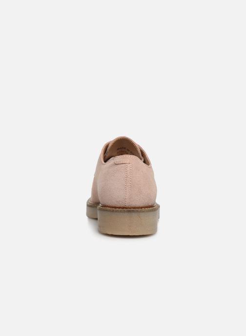 Zapatos con cordones Kickers Oxfork Rosa vista lateral derecha