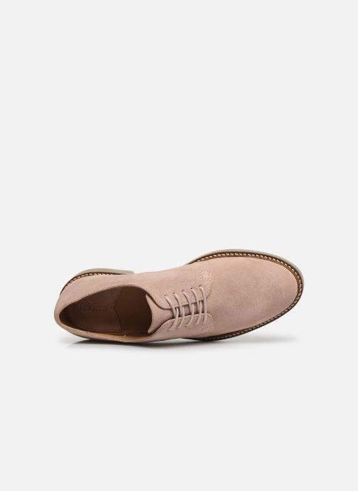 Zapatos con cordones Kickers Oxfork Rosa vista lateral izquierda