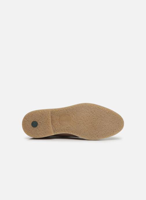 Chaussures à lacets Kickers Oxfork Rose vue haut
