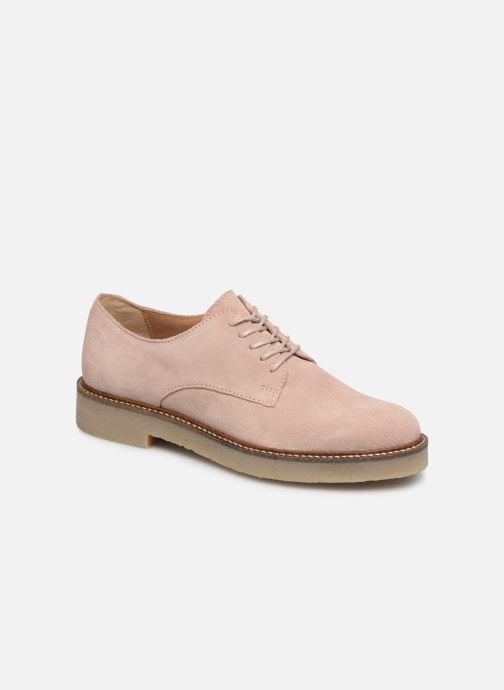 Zapatos con cordones Kickers Oxfork Rosa vista de detalle / par