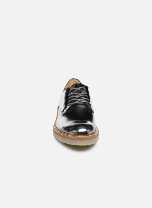 Chaussures à lacets Kickers Oxfork Argent vue portées chaussures