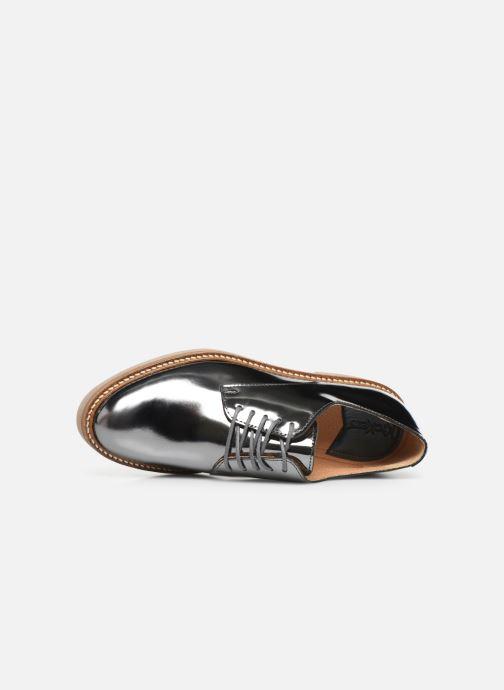 Zapatos con cordones Kickers Oxfork Plateado vista lateral izquierda