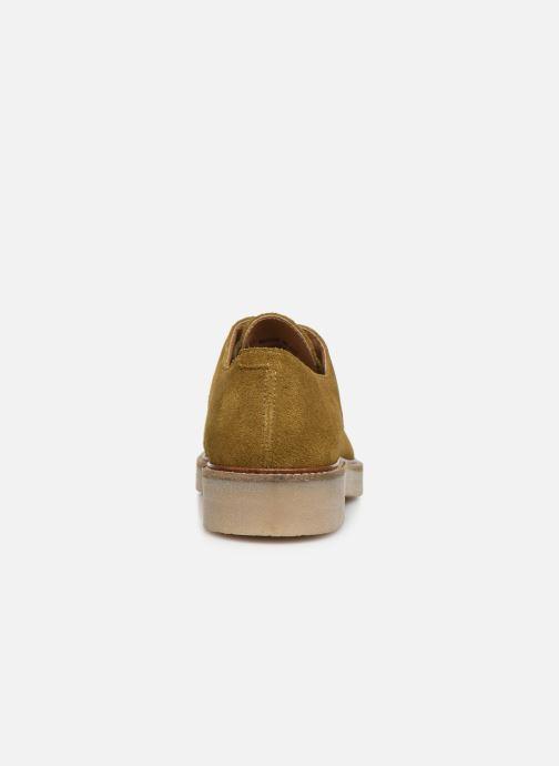Zapatos con cordones Kickers Oxfork Verde vista lateral derecha