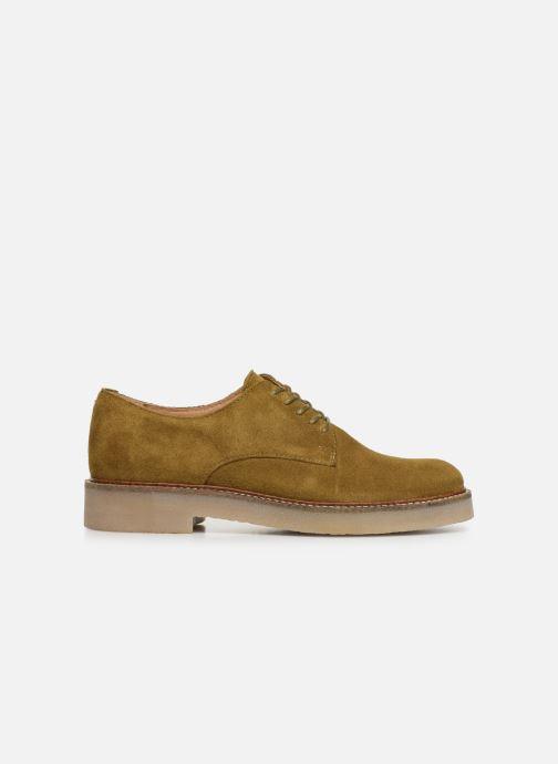 Zapatos con cordones Kickers Oxfork Verde vistra trasera