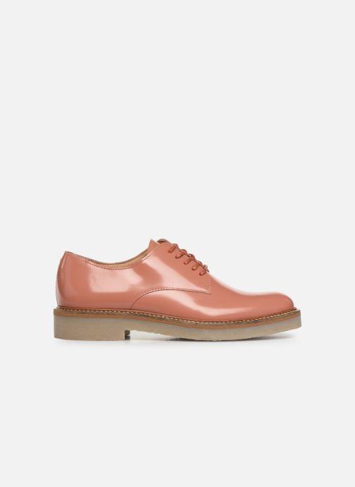 Chaussures à lacets Kickers Oxfork Rose vue derrière