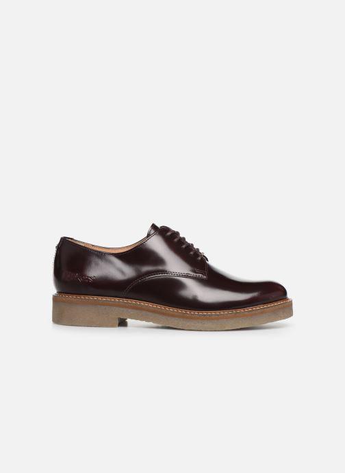 Zapatos con cordones Kickers Oxfork Vino vistra trasera