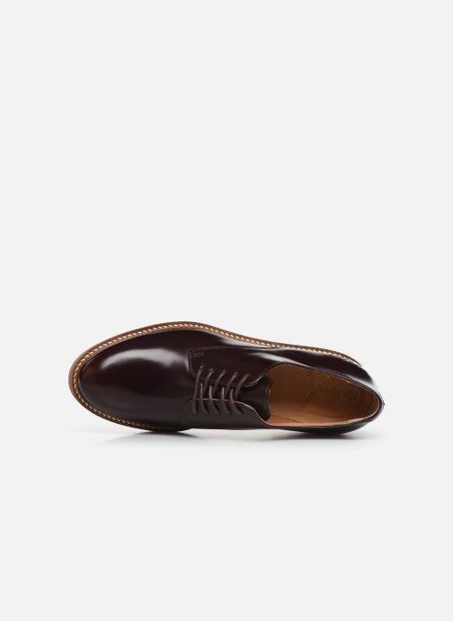 Zapatos con cordones Kickers Oxfork Vino vista lateral izquierda