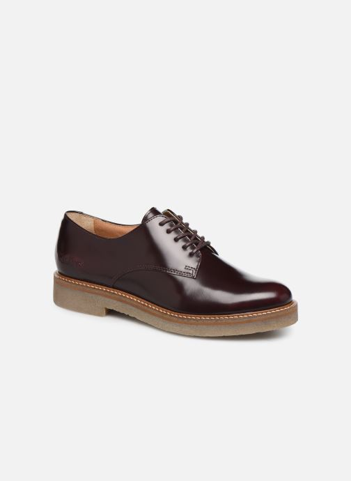 Zapatos con cordones Kickers Oxfork Vino vista de detalle / par