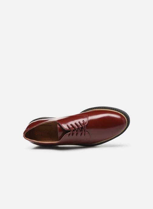 Chaussures à lacets Kickers Oxfork Rouge vue gauche