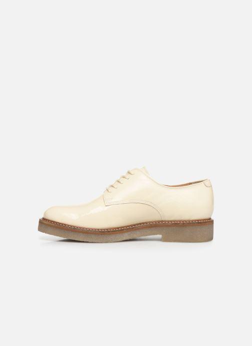 Chaussures à lacets Kickers Oxfork Blanc vue face