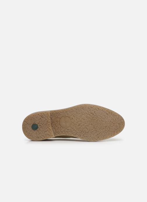 Chaussures à lacets Kickers Oxfork Blanc vue haut