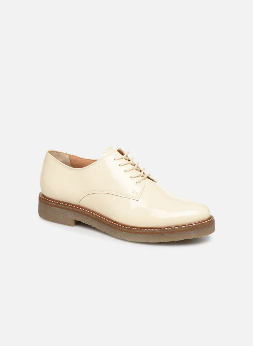 Chaussures à lacets Kickers Oxfork Blanc vue détail/paire