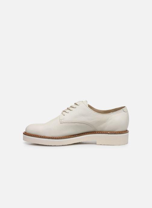 Zapatos con cordones Kickers Oxfork Blanco vista de frente