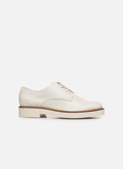 Zapatos con cordones Kickers Oxfork Blanco vistra trasera