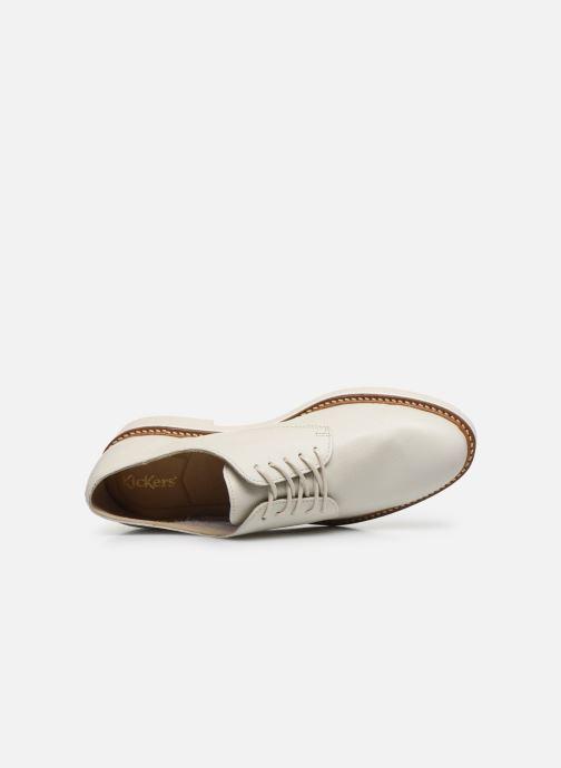 Zapatos con cordones Kickers Oxfork Blanco vista lateral izquierda