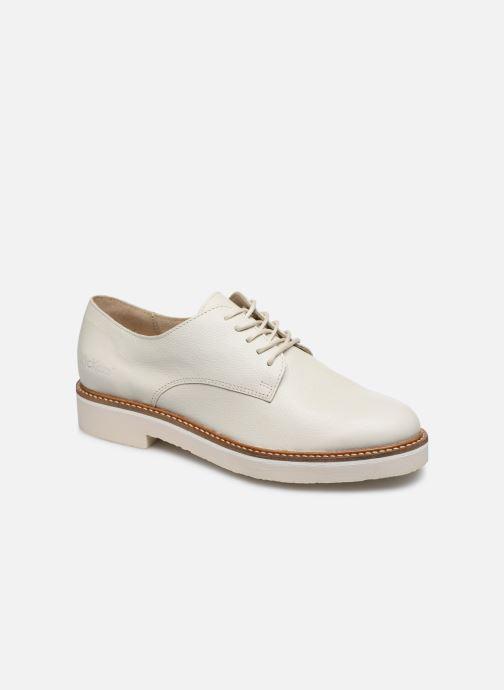 Zapatos con cordones Kickers Oxfork Blanco vista de detalle / par