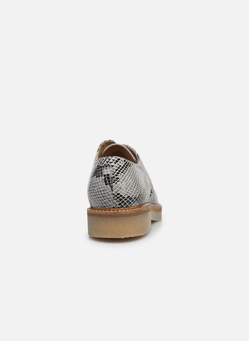 Chaussures à lacets Kickers Oxfork Blanc vue droite