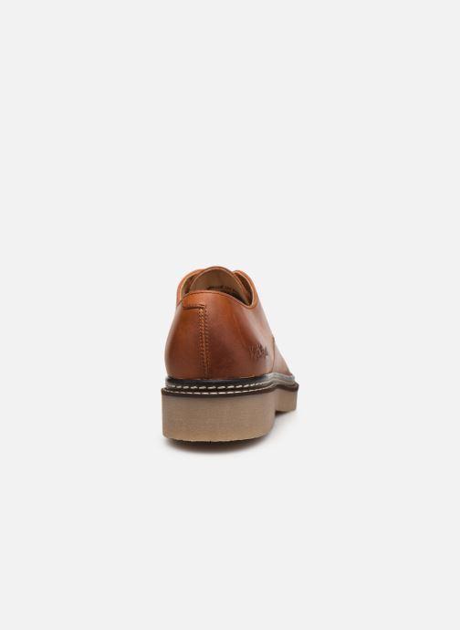 Zapatos con cordones Kickers Oxfork Marrón vista lateral derecha