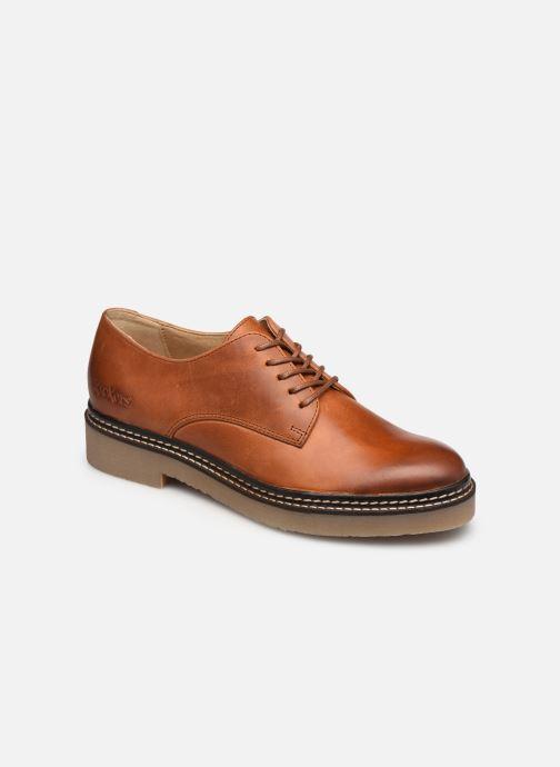 Zapatos con cordones Kickers Oxfork Marrón vista de detalle / par