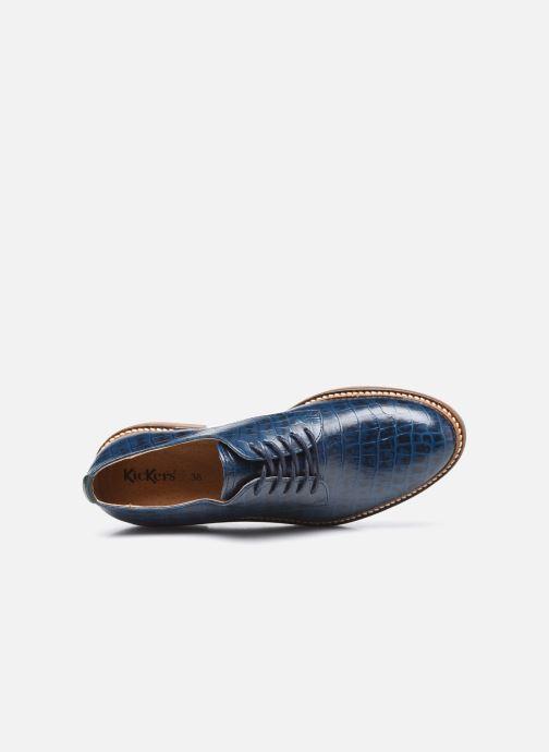 Chaussures à lacets Kickers Oxfork Bleu vue gauche