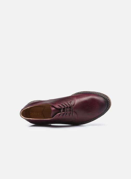 Chaussures à lacets Kickers Oxfork Bordeaux vue gauche