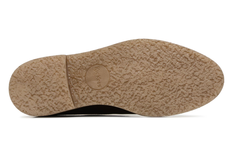 Chaussures à lacets Kickers Oxfork Bordeaux vue haut
