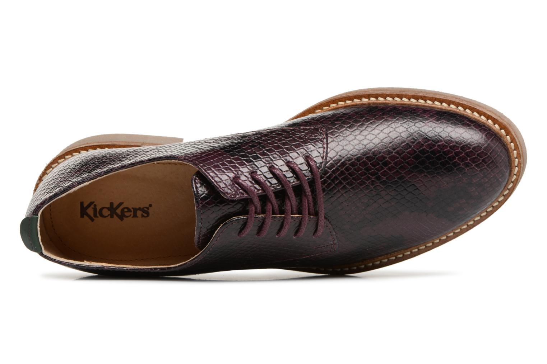 Chaussures à lacets Kickers Oxfork Violet vue gauche