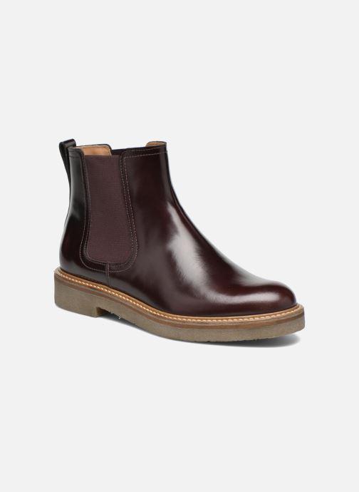 Bottines et boots Kickers Oxfordchic Bordeaux vue détail/paire