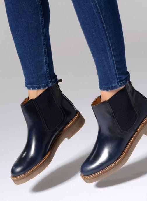Stiefeletten & Boots Kickers Oxfordchic schwarz ansicht von unten / tasche getragen