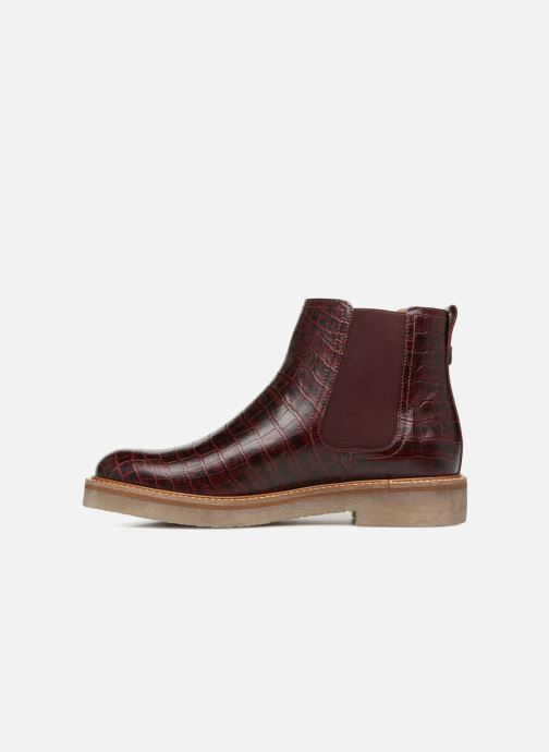 Bottines et boots Kickers Oxfordchic Bordeaux vue face