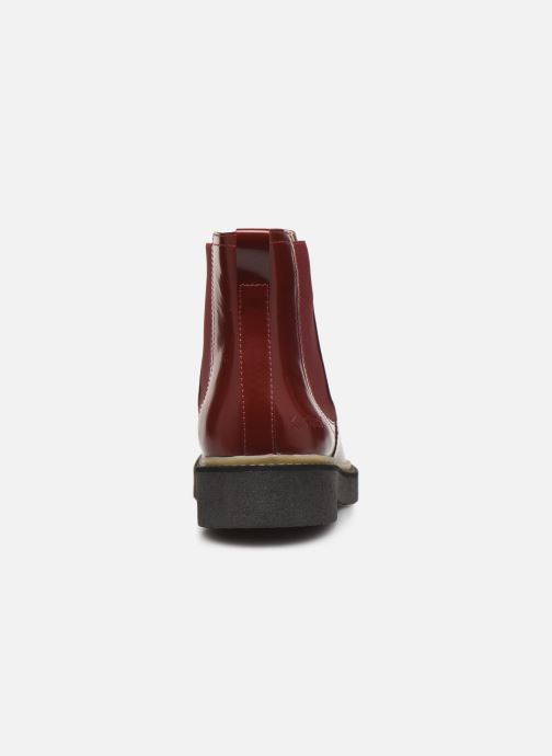 Bottines et boots Kickers Oxfordchic Rouge vue droite