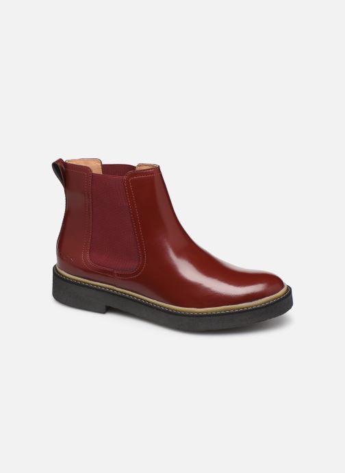 Bottines et boots Kickers Oxfordchic Rouge vue détail/paire