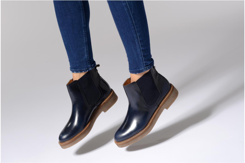 Bottines et boots Kickers Oxfordchic Bleu vue bas / vue portée sac