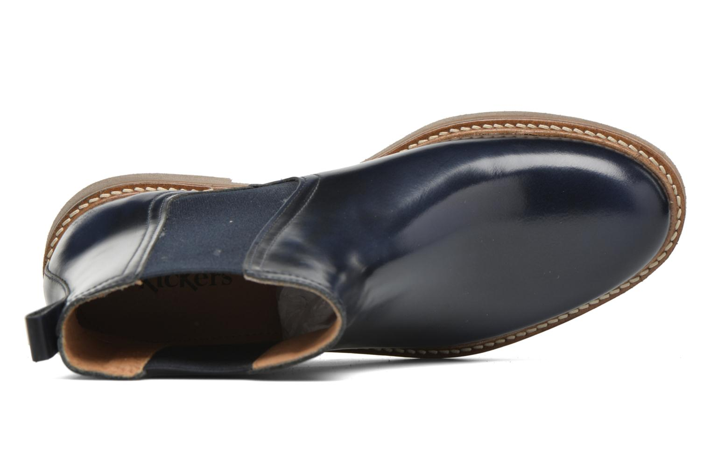 Bottines et boots Kickers Oxfordchic Bleu vue gauche