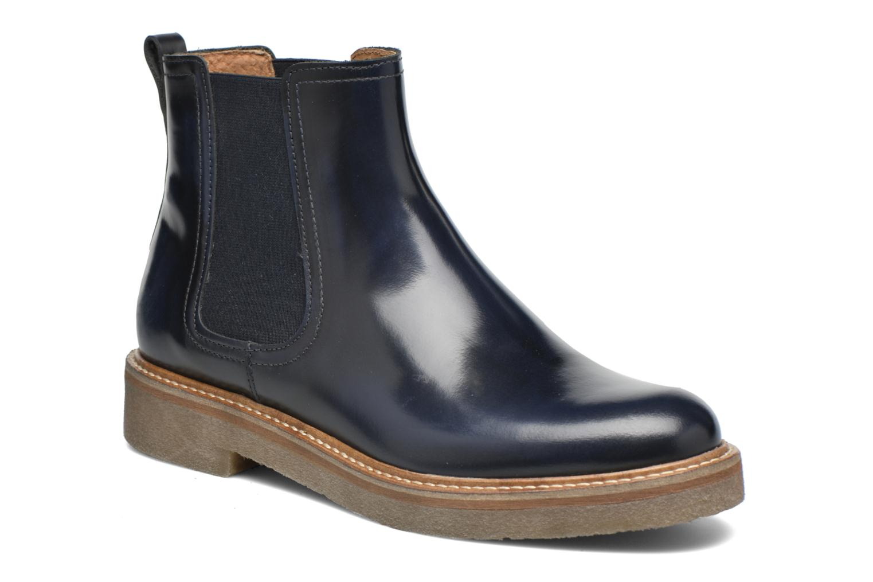 Bottines et boots Kickers Oxfordchic Bleu vue détail/paire