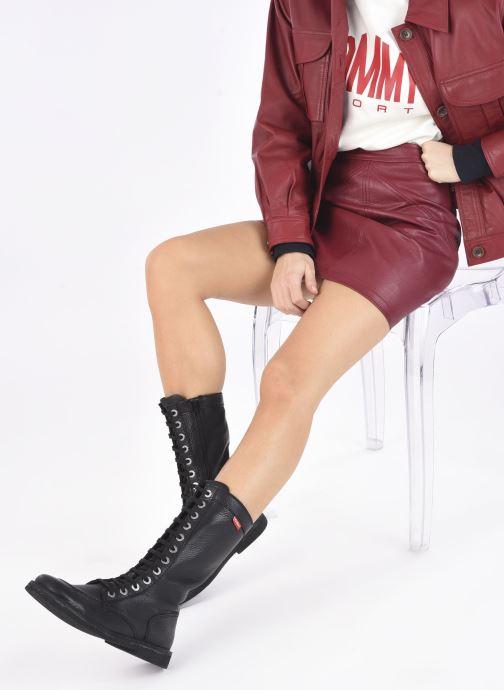 Stiefeletten & Boots Kickers Meetkiknew schwarz ansicht von unten / tasche getragen