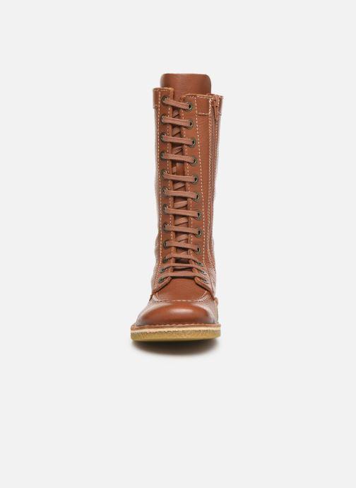 Bottines et boots Kickers Meetkiknew Marron vue portées chaussures