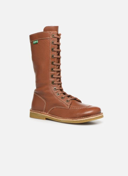 Bottines et boots Kickers Meetkiknew Marron vue détail/paire