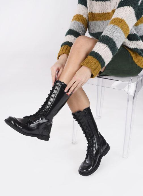 Bottines et boots Kickers Meetkiknew Noir vue bas / vue portée sac