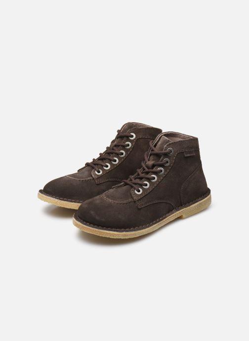 Bottines et boots Kickers Orilegend F Marron vue bas / vue portée sac