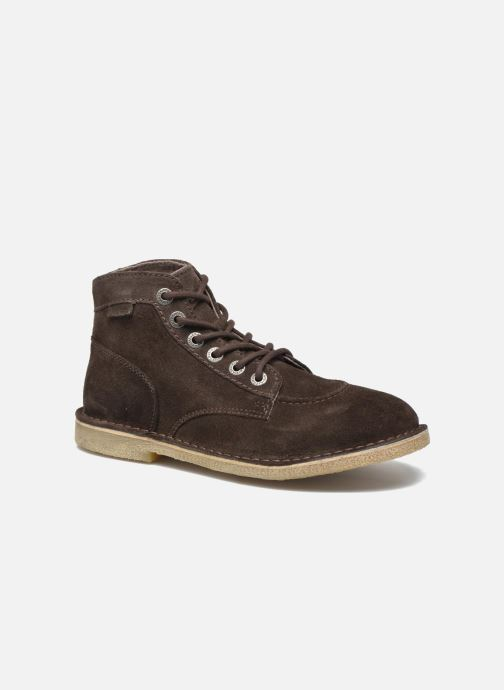 Bottines et boots Kickers Orilegend F Marron vue détail/paire