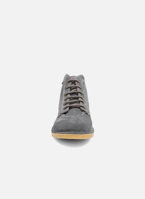 Schnürschuhe Kickers Orilegend F grau schuhe getragen