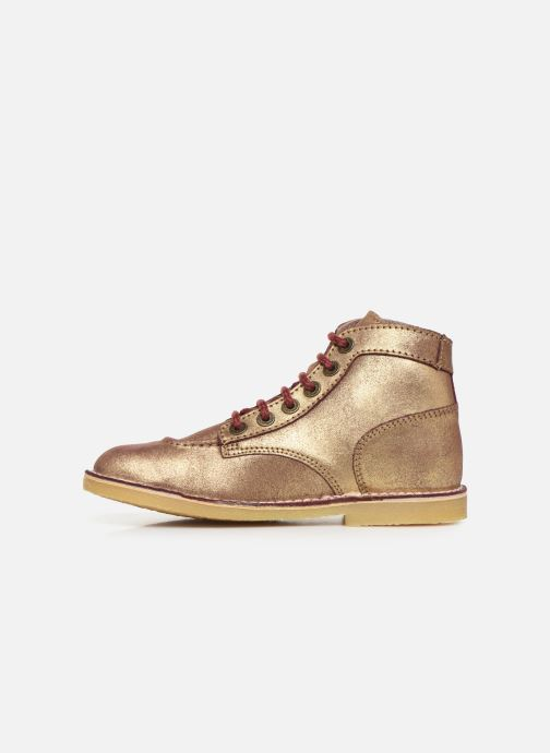 Bottines et boots Kickers Orilegend F Or et bronze vue face