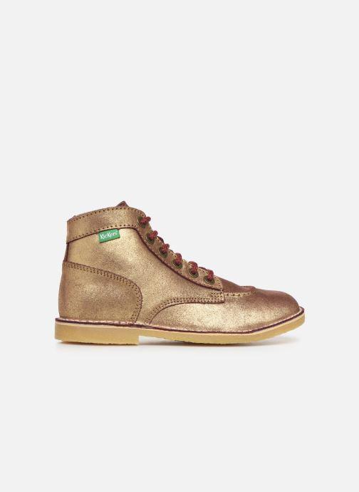 Bottines et boots Kickers Orilegend F Or et bronze vue derrière