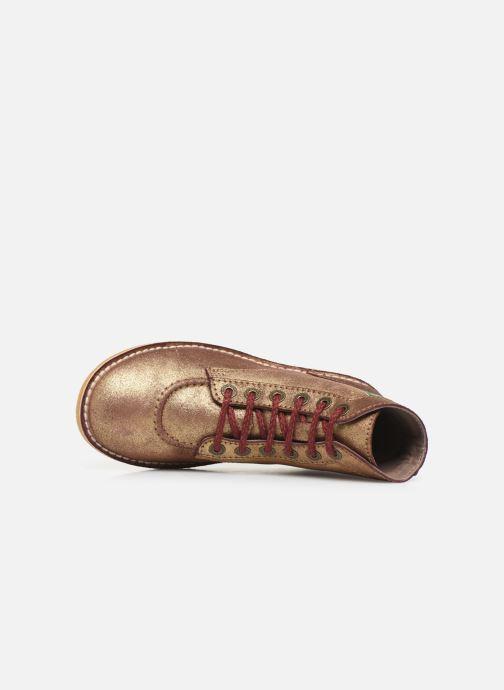 Bottines et boots Kickers Orilegend F Or et bronze vue gauche
